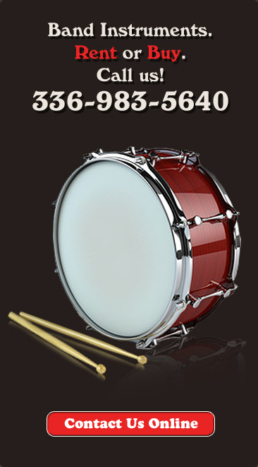 Band Instruments. Rent or Buy. Call us! 336-983-5640